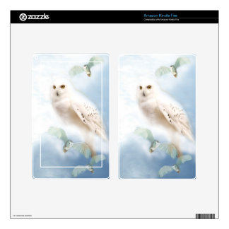 Snowy Owl Kindle Fire Decal