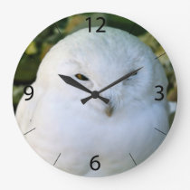 Snowy Owl Large Clock