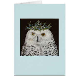 Snowy owl Mistress Quickly card