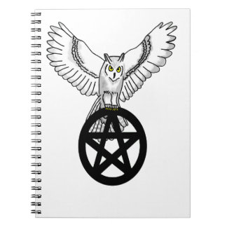 Snowy Owl On A Pentacle Notebook