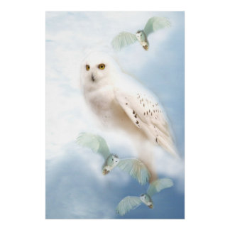 Snowy Owl on canvas Poster
