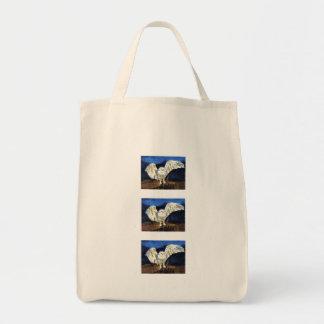 Snowy Owl Organic Grocery Bag
