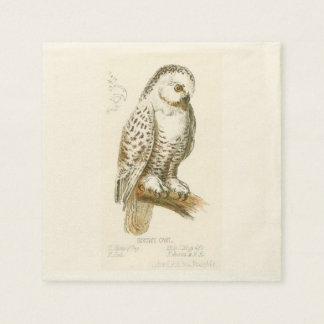 Snowy Owl Paper Napkin