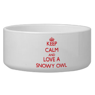 Snowy Owl Pet Water Bowl