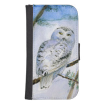 snowy owl phone wallet