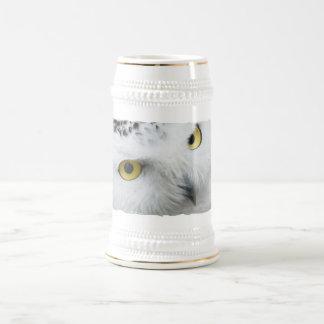 Snowy Owl Photo Beer Stein Coffee Mug