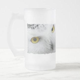 Snowy Owl Photo Frosted Mug