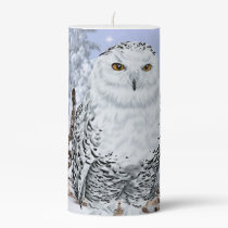 Snowy Owl Pillar Candle