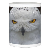 Snowy Owl Portrait Flameless Candle