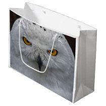 Snowy Owl Portrait Gift Bag
