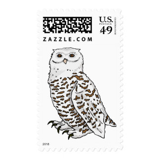 Snowy Owl Postage Stamps