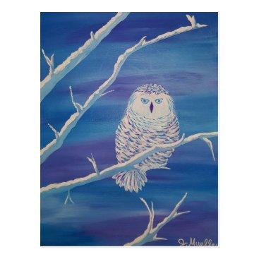 paintingbuzz Snowy Owl Postcard