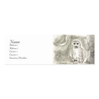 Snowy owl Profile Card Business Card