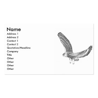 Snowy Owl Profile Card Business Cards