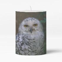 Snowy Owl Q, Schnee-Eule Pillar Candle