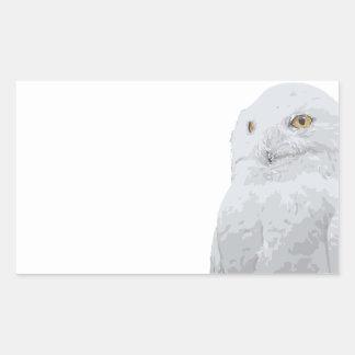 Snowy Owl Rectangular Sticker