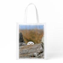 Snowy Owl Reusable Grocery Bag