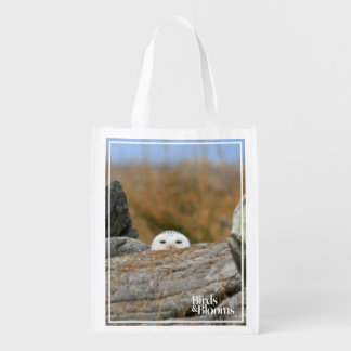 Snowy Owl Reusable Grocery Bag