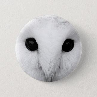 Snowy Owl Round Button