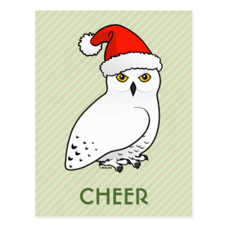 Snowy Owl Santa Postcards