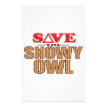 Snowy Owl Save Stationery
