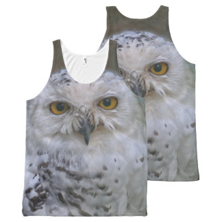 Snowy Owl, Schnee-Eule, All Over Print Tank Top All-Over Print Tank Top