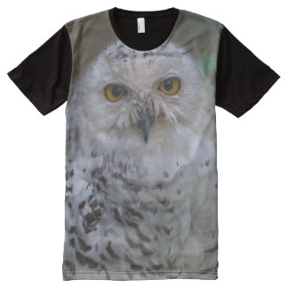 Snowy Owl, Schnee-Eule, All-Over Printed Panel All-Over Print T-shirt