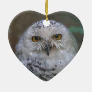 Snowy Owl, Schnee-Eule Ceramic Ornament