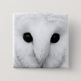 Snowy Owl Square Pin