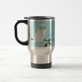 Snowy Owl Stainless Steel Travel Mug