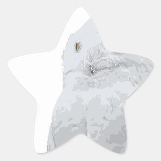 Snowy Owl Star Sticker