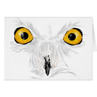 Snowy owl staring greeting card