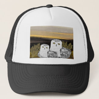 Snowy Owl Sunrise Trucker Hat