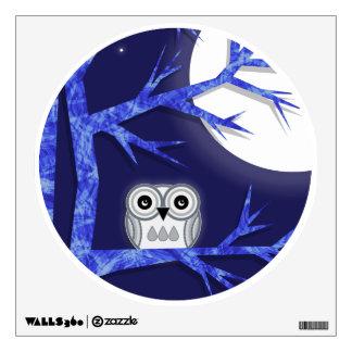 Snowy Owl Wall Decal - Cute Owl Wall Sticker