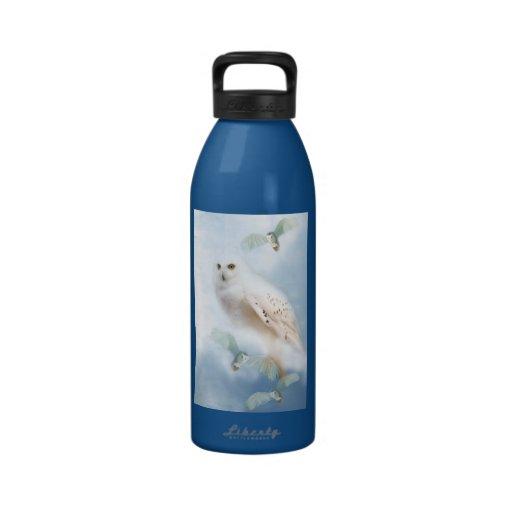 Snowy Owl water bottle