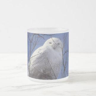Snowy Owl - White Bird against a Sapphire Blue Sky Mug