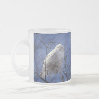 Snowy Owl - White Bird against a Sapphire Blue Sky Coffee Mug