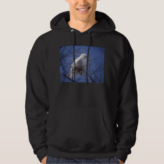 Snowy Owl - White Bird against a Sapphire Blue Sky Pullover