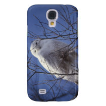 Snowy Owl - White Bird against a Sapphire Blue Sky Samsung Galaxy S4 Cover
