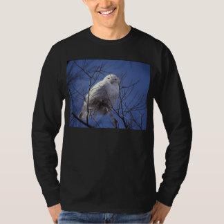 Snowy Owl - White Bird against a Sapphire Blue Sky T-Shirt