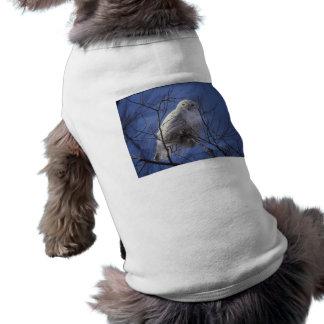 Snowy Owl - White Bird against a Sapphire Blue Sky Tee