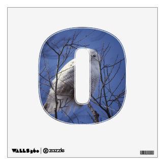 Snowy Owl, White Bird against a Sapphire Blue Sky Wall Sticker