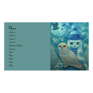 Snowy Owl Witch Business Card Template
