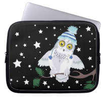 Snowy Owl with Hat~ laptop case