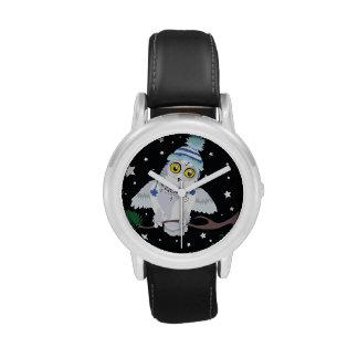 Snowy Owl with Hat~wrist watch