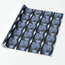 Snowy owl wrapping paper