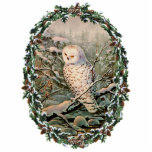 "SNOWY OWL &amp; WREATH by SHARON SHARPE Cutout<br><div class=""desc"">SNOWY OWL &amp; WREATH from an original watercolor by SHARON SHARPE</div>"