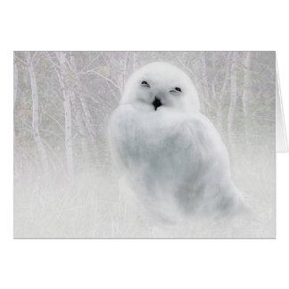 Snowy Owlet Card