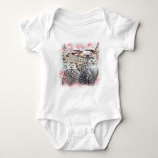 Snowy Owls Baby Bodysuit