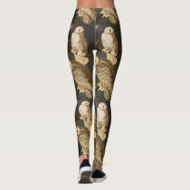 Snowy Owls by John Audubon Leggings